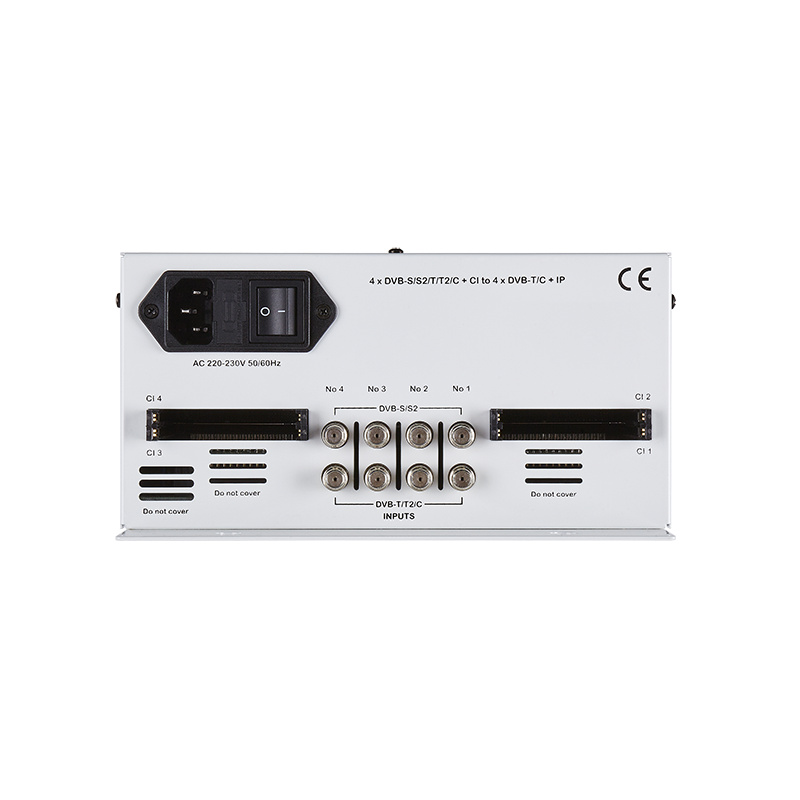QM Products DGL4500C 4 x DVB-S/S2/T/T2/C to 4 X DVB-T/C & IP (4 x CI)